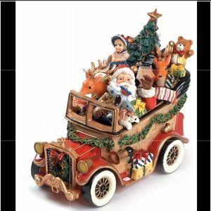 NWB Fitz & Floyd Santa Mobile Musical Figurines